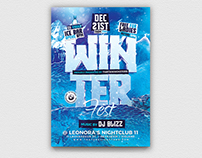 Winter Festival Flyer Template V2