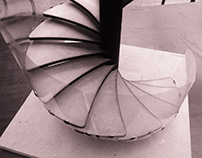 Wooden Spiral Stairs Maquette