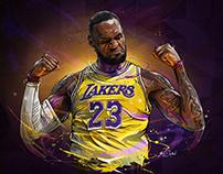 LEBRON JAMES -NBA X ENTERBAY
