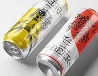 Beer Can Mockup / 3D Visualization
