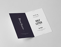 Bi-Fold Half Letter Brochure Mock-up