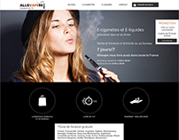Allovape95 interface design