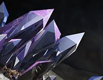 Crystal,Emerald Experiment C4D