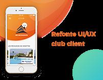Refonte UI/UX club client
