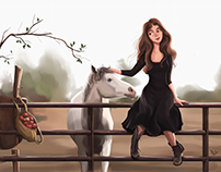 Her horse
