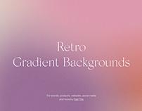 Retro Vintage Blur Gradient Backgrounds Grain Texture
