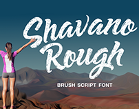 Shavano Rough a Brush Script Font