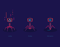 Bacteriophages Illustration for web