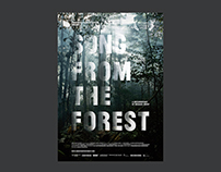 Songs from the forest – visual concept, poster design