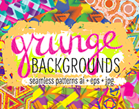 10 grunge colorful patterns