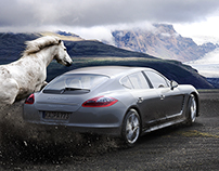Porsche Panamera 3D/Photo compositing