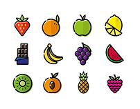 Flavor icon set