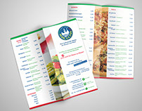 Menu flyer for italian restaurant