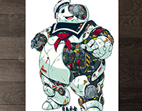 MECHASOUL STAY PUFT FINE ART PRINT