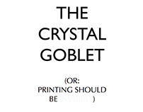 The Crystal Goblet magazine layout