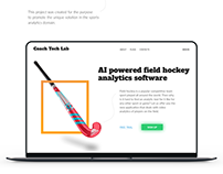 Promotional page for analytics software — Landing page
