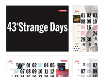 43+Strange Days - Calendar Design by #AndreToet