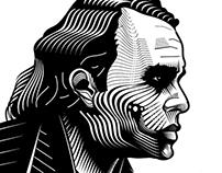 Woodcut Technique Inspired Art