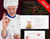 ZupaRestaurant PSD Template + FREE PSD
