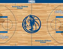 Dallas Mavs New Court Contest Designs