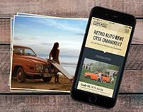 Vana Auto Rent logo, responsive web design and promo