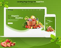 Organic Food Firm Landing Page