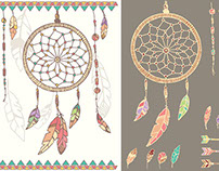 Dream Catcher, feathers, beads