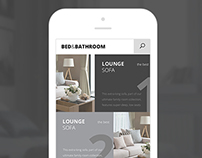 Bed&Bathroom responsive website