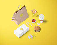 D Burger - UX Research & Brand Image Delivery App