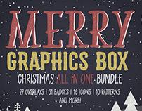 Merry Graphics Box. Christmas Graphics Bundle.