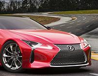Lexus LC500h CGI.