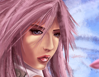 Digital Painting - Lightning from Final fantasy 13