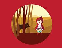The Little Red Riding Hood - Children's Book Design