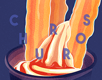 Churros Illustration