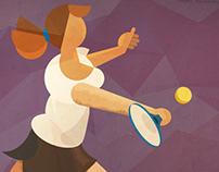 Tennis Player Illustration for App backgournd