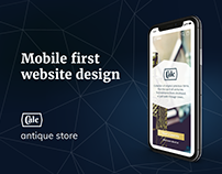 Antique store. Mobile First website design