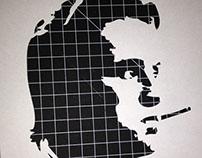 Stencil - Gordon Gekko smokes