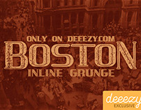 Free Font - Boston Inline Grunge