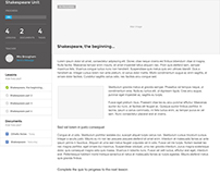 E-Learning Wireframes