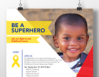 Childhood Cancer Awareness Event Poster