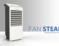 Fan Steam. Air Conditioner.