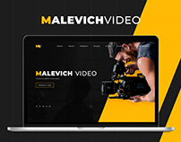 Malevich Video. Full landing page.
