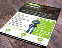 One Call Service A4 Size Flyer