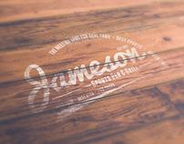 Free Photorealistic Wood Logo Mockup