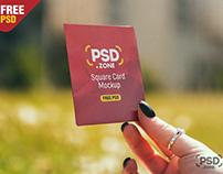 Square Card Mockup PSD
