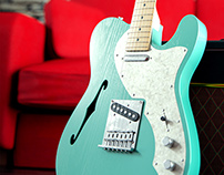 Fender Telecaster Thinline Teal Green