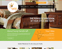 Suraj Handicrafts Website design
