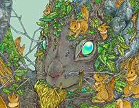 Digitalbook cover illustration 円城 塔 (著)リスを実装する
