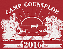 Camp Counselor T-shirt Design