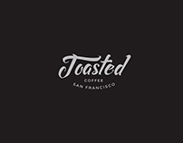 Toasted Coffee Shop Logo